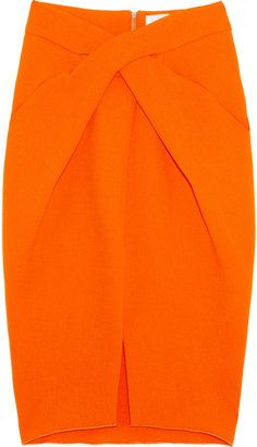 6367e80286 Dion Lee Laceration twist-front wool-crepe pencil skirt - ShopStyle