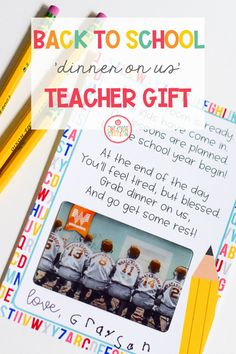 Help out your child's teacher with this Back to School Gift Card Poem! Let them out the first few weeks of school when life is the craziest! #teachergift #backtoschool #freeprintable