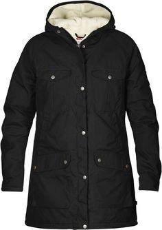 Fjall Raven Greenland Winter Parka in Black Raincoats For Women, Jackets For Women, Men's Jackets, Winter Parka, Winter Coats, Long Parka, Parka Coat, Outdoor Outfit