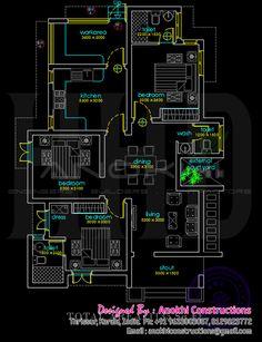 Home design floor plans - Modern Home Design in 4 Easy Steps 2bhk House Plan, House Plans Mansion, Model House Plan, House Layout Plans, Floor Plan Layout, Family House Plans, Small House Plans, Dream House Plans, Bungalow Floor Plans