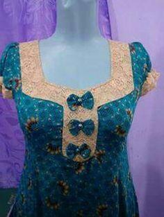 Neck Designs For Suits, Dress Neck Designs, Blouse Designs, Salwar Neck Patterns, Churidar Neck Designs, Hijab Fashion, Fashion Dresses, Muslim Women, Traditional Dresses