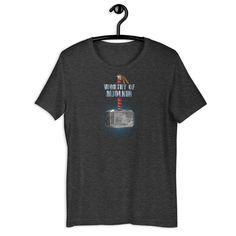 Worthy of Mjolnir - Superhero Unisex T-Shirt - Dark Grey Heather / M