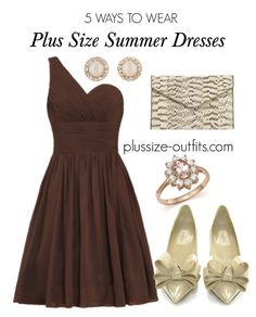 5 brown plus size summer dresses that will flatter your curves - plus size fashion for women