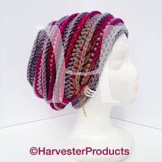 Aarynjay Slouch Hat Pattern by Harvester Products $3.95 on Ravelry