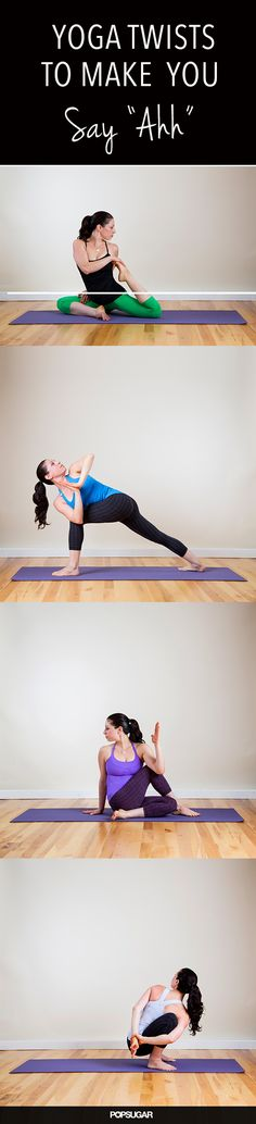 "Yoga Twists To Make You Say ""Ahh""! Come to Clarkston Hot Yoga in Clarkston, MI for all of your Yoga and fitness needs! Feel free to call (248) 620-7101 or visit our website www.clarkstonhotyoga.com for more information about the classes we offer!"