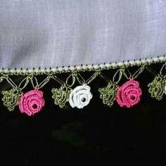 Crochet Stitches Free, Crochet Borders, 3d Pattern, Border Pattern, Form Crochet, Knit Crochet, Crochet Fashion, Crochet Flowers, Crochet Projects