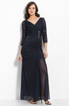 Adrianna Papell Beaded Mesh Gown available at #Nordstrom