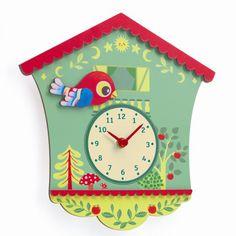 Djeco Kinderzimmer Wanduhr Uhr Peggy - Bonuspunkte sammeln, auf Rechnung bestellen, DHL Blitzlieferung!