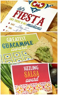 Fun, Free FIESTA party download- printable invites, party awards, and recipe cards!