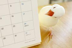 スサー文鳥カレンダー発売中です。|caffè pulcino