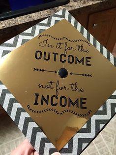 Chevron gold graduation cap