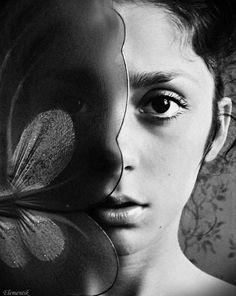 bw dreams by Natalia Ciobanu Butterfly Effect, Images, Portraits, Dreams, Black And White, Artwork, Fotografia, Flowers, Psychology