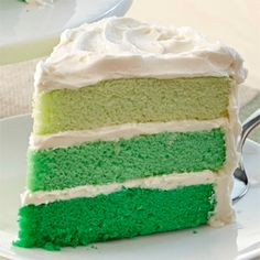 This green ombre cake recipe is perfect for St. Patrick's Day!