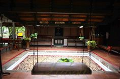 Indian Homes with old style character Indian Home Design, Indian Home Interior, Kerala House Design, Kerala Traditional House, Traditional House Plans, Courtyard House Plans, Courtyard Design, Village House Design, Bungalow House Design