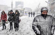 Bilderesultat for People walk in the snow