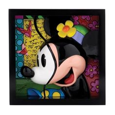 NEW OFFICIAL Romero Britto Minnie Mouse Disney Framed Pop Art Block (4033867) in Collectables, Disneyana, Contemporary (1968-Now) | eBay