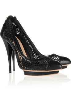 Leather and mesh pumps by McQ Alexander McQueen