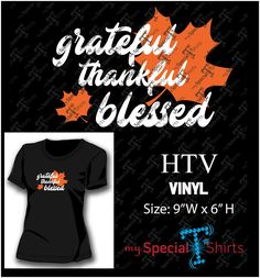 Grateful Thankful Blessed Vector Design MST
