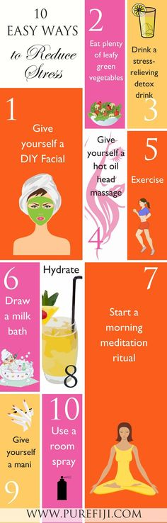 Stress can take its toll on the health of your skin! Use these tricks to relax, recharge, and smooth your skin. Click here to learn 10 tips for stress relief http://www.purefiji.com/blog/stress-relief-tips/ | Skin Care Tips