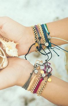 stacked bracelets, perfect for spring More