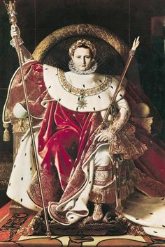 Napoleon I on his Imperial Throne by Jean Auguste Dominique Ingres, 1806