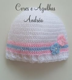 Cores e Agulhas  Touquinha ou Gorro para Bebê em Crochê! 7371a466183