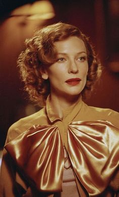 Cate Blanchett as Katharine Hepburn in The Aviator (2004) costumes designed by Sandy Powell