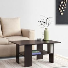 Fab Home Ethan Coffee Table Wenge - Add oodles of style to your home with an exciting range of designer furniture, furnishings, decor items and kitchenware. We promise to deliver best quality products at best prices.