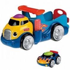 Camion transport masinute  Fisher Price de pe ursuletulmeu.ro