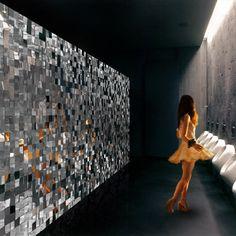 mirrored acrylic wall