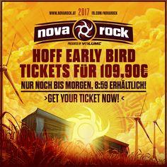 Letzte Chance: sicher dir schnell dein #NR17 Hoff Early Bird Ticket um nur 109,90€ bis morgen 8:59! Here we go: http://bit.ly/28SSUbn