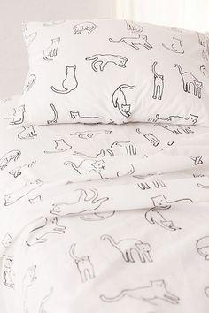 Home Decor Christmas Slide View: Cat Nap Sheet Set Brown Bed Linen, Neutral Bed Linen, Bedding Sets Online, Luxury Bedding Sets, Comforter Sets, King Comforter, Master Suite, Cat Bedroom, Bedroom Ideas