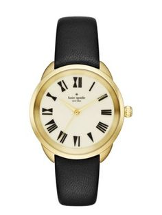 black crosstown watch - Kate Spade New York