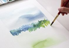 Mark making with watercolors