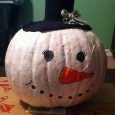 Pumpkin snowman ;)