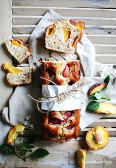 Summer peach white chocolate cake