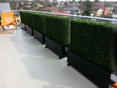 Out artificial hedges used for balcony, terrence and walls.