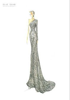 elie saab sketches - Google Search