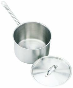 Crestware 7.625-Quart Stainless Steel Sauce Pan by Crestware Commercial Kitchen. $38.99. High quality. Economical; value price. Durable; reliable; sturdy. Commercial use. Professional grade. Induction Efficient Stainless Steel Saucepan. For professional use. Made for heavy duty, high usage food service businesses.