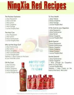 NingXia Red recipes  https://www.facebook.com/pages/Abundance-Health-to-Wellness-Young-Living-Ind-Dist-1450411/223970274420531?ref=hl