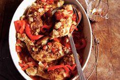 Kijk wat een lekker recept ik heb gevonden op Allerhande! Geurig gestoofde kip en paprika