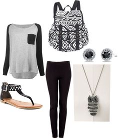 Switch out the sandals for black converse and get rid of the necklace and bam! Perfect outfit!