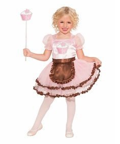 Make any dress-up day even more magical with this enchanting frock. Featuring a dress with an attached apron, the set includes everything necessary to form a sugary sweet ensemble for a princess.Includes dress and wand100% polyesterHand washImported