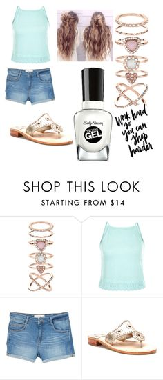 """""""let's go shopping!"""" by colonkairee on Polyvore featuring Accessorize, New Look, MANGO, Jack Rogers and Sally Hansen"""