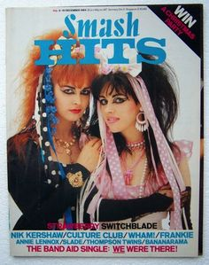 Vintage 1984 Smash Hits Magazine with Strawberry Switchblade cover. 80s Music, Dance Music, Culture Club, Pop Culture, Scottish Bands, Thompson Twins, Annie Lennox, Music Magazines, Teen Magazines