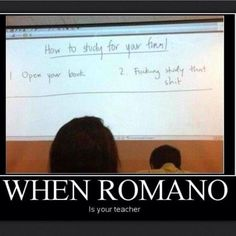 When Romano is your teacher