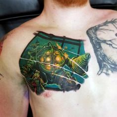 lil chef on tattoo inspirations pinterest bioshock big daddy