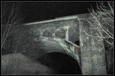 Haunted Bridge of Danville The Haunted Bridge of Danville is a railroad bridge overlooking what is now called Twin Bridges Road. A steel girded bridge still spreads over Whitelick creek to the east but now dead ends just before connecting with Twin Bridges Road. The Concrete Railroad Trestle was built in the 1800s and the tale goes that while the trestle was being constructed an irish worker fell into a vat of hardening concrete