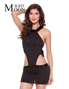 MOONIGHT Sexy Woman Club Wear Dress Sheath Hollow Out Black Dresses Women Sexy Dresses Party Night Club Dress #Affiliate