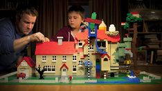 Lego Build Together Commercial Lego Building, Lego Ideas, Father And Son, Masters, Commercial, Christmas Ornaments, Google Search, Architecture, Holiday Decor
